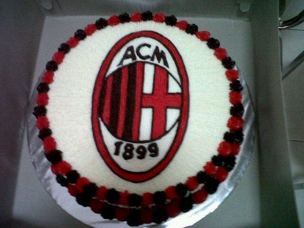 AC Milan cake Cake Decorating Ideas Pinterest