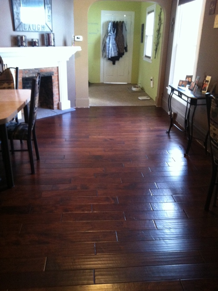 Handscraped Hardwood Installed Throughout This Charlotte MI Home