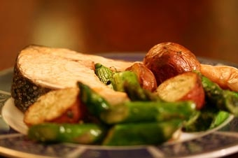Oven-Roasted Salmon, Asparagus and New Potatoes | Recipe