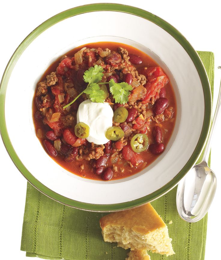 Chipotle Beef and Beer Chili (maybe less spicy version) -- Real Simple