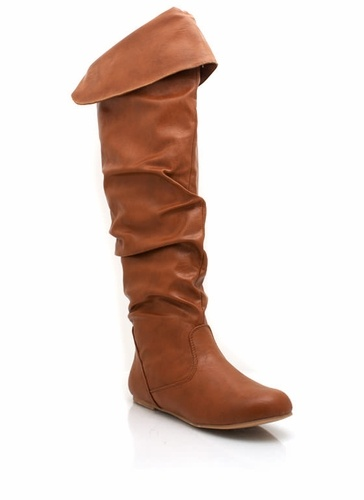 Slouchy boots.