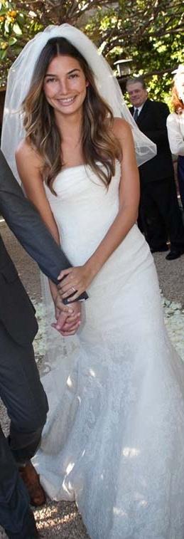 Lily Aldridge's Vera Wang wedding dress.   wedding   Pinterest