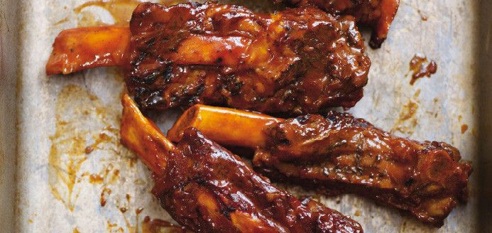 Grilled Beef Ribs Smothered in Cola Barbecue Sauce Recipes | Ricardo