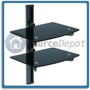 New Dvd Player Tv Cable Box Wall Mount Media Shelf Shelve