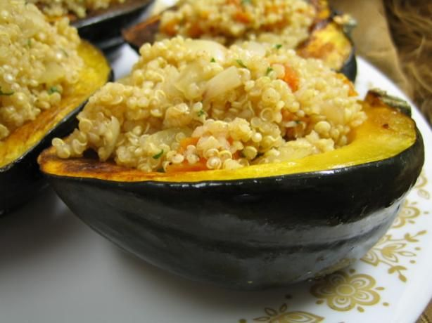 Quinoa-Stuffed Acorn Squash Recipe - Food.com - 393875