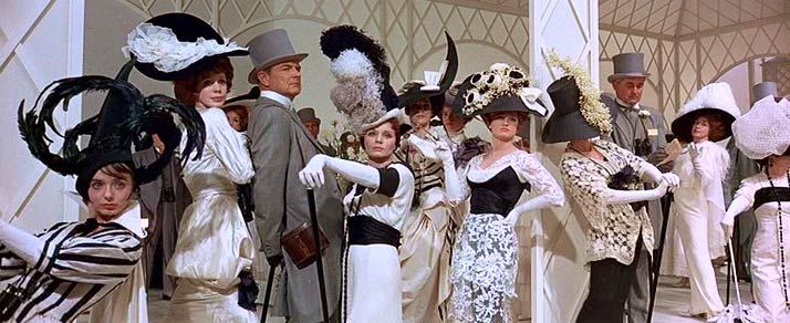 The races at Ascot scene from My Fair Lady. These costumes are so amazing and elegant.