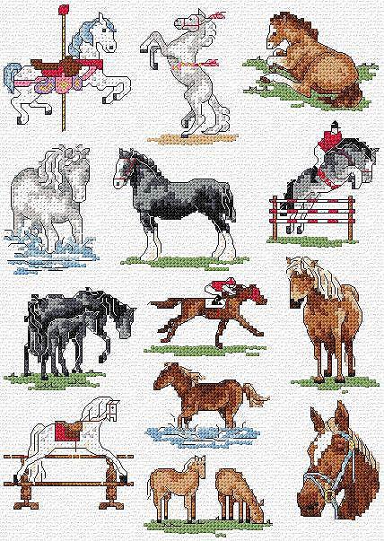 Вышивка лошадь маленькая 6