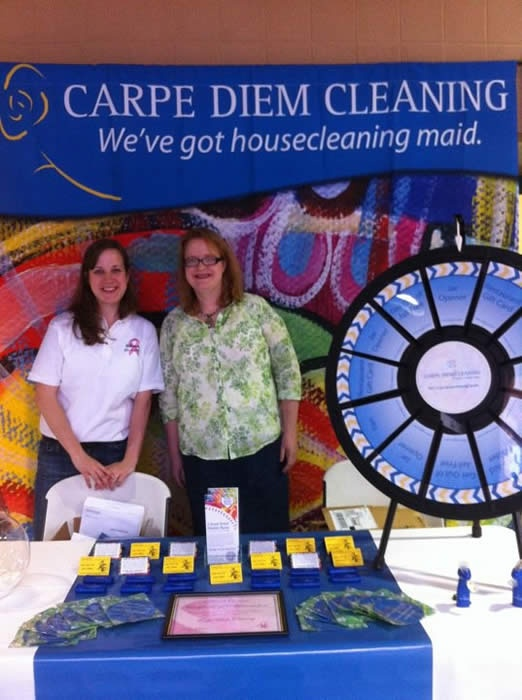 Carpe Diem Cleaning Prize Wheel (http://PrizeWheel.com/products/tabletop-prize-wheels/tabletop-black-clicker-prize-wheel-12-slot/)