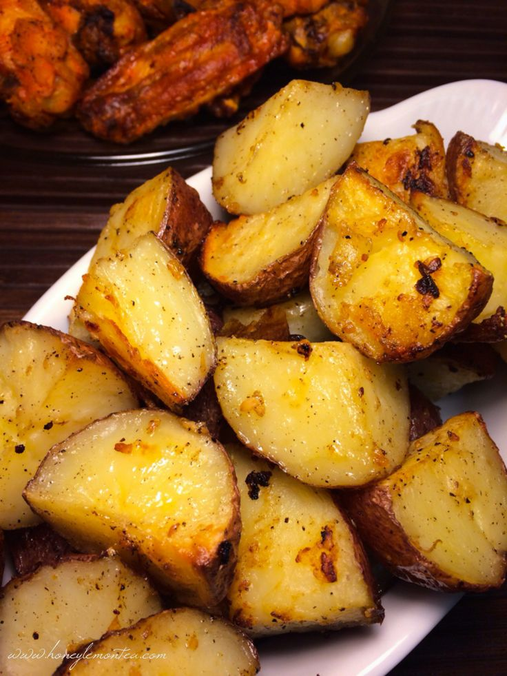 Parmesan Garlic Roasted Red Potatoes. Cory and I make these and they ...