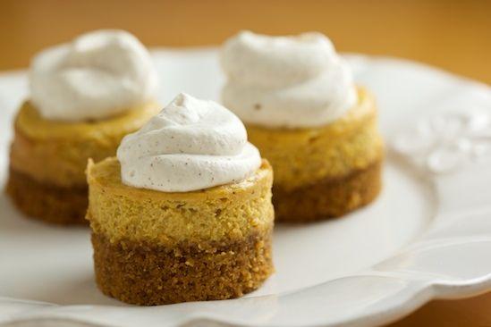 Mini Pumpkin Cheesecakes   Food Critic   Pinterest