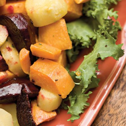 Roasted Root Vegetables With Horseradish Vinaigrette | Recipe