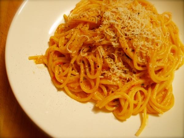 Spaghetti With Pesto Trapanese Recipe — Dishmaps