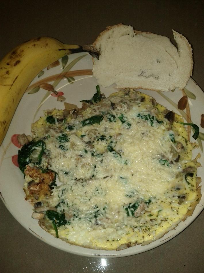 Spinach and Mushroom Frittata | Breakfast Recipes | Pinterest