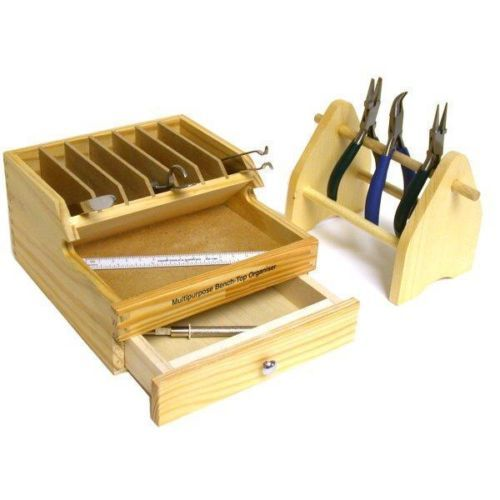Jewelers Plier Rack Bench Wood Tool Box W Drawer Jewelry Repair Org