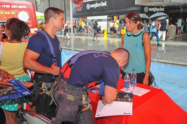 Firefighters spent three hours signing calendars on July 22, the day ...