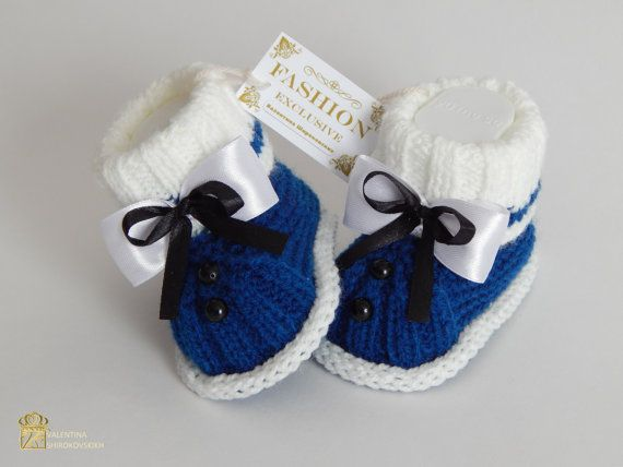 Вязание для новорожденных мальчиков пинетки