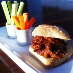 Zesty Slow Cooker Chicken Barbecue Allrecipes.com