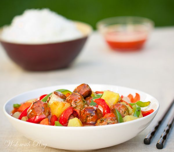Sweet and Sour Meatballs. Easy Asian dish that everybody would love.