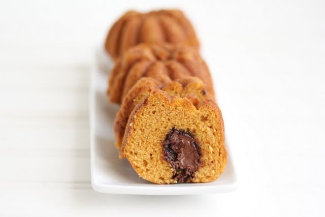 Pumpkin cakes with Nutella filling | Kirbie's Cravings | A San Diego ...