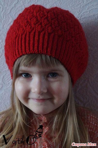 Вязание крючком осенние шапки для девочки 54