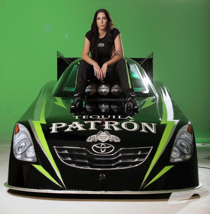 Alexis Dejoria With Funny Car