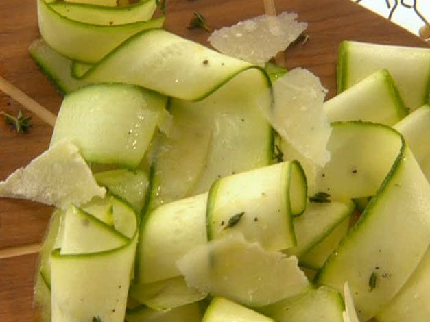 Zucchini Carpaccio from FoodNetwork.com. I'll be trying this sans ...