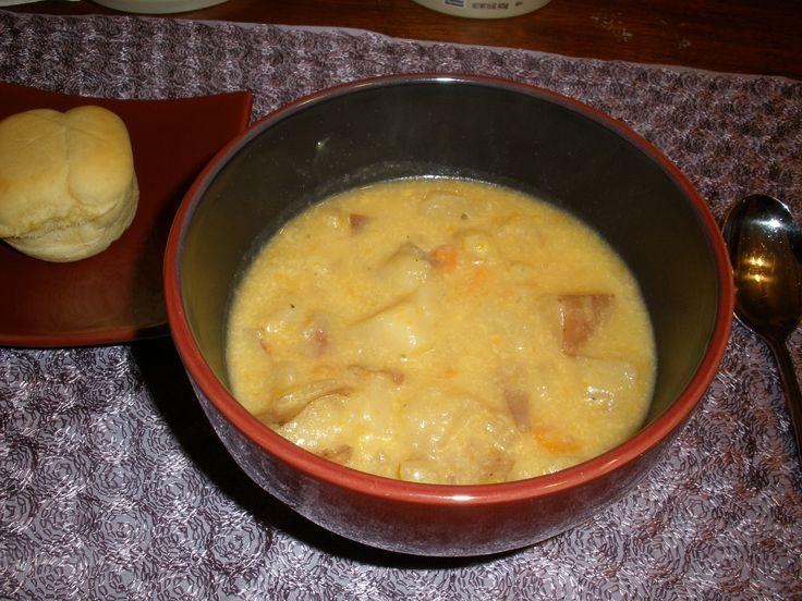 Slow Cooker Cheesy Potato Soup | Favorite Recipes | Pinterest