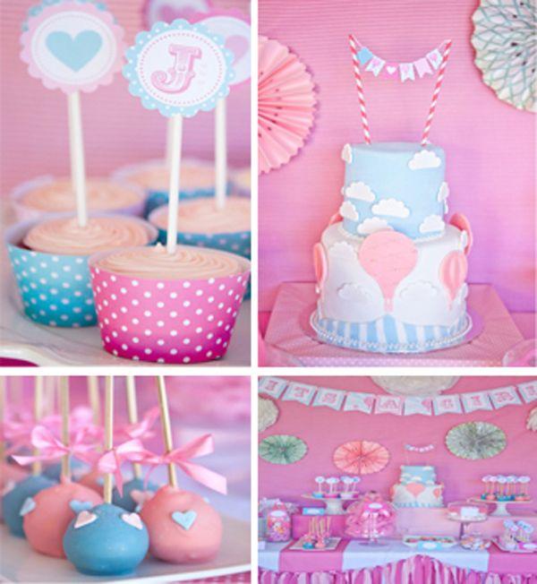 hot air balloon baby shower with super cute ideas via karas party