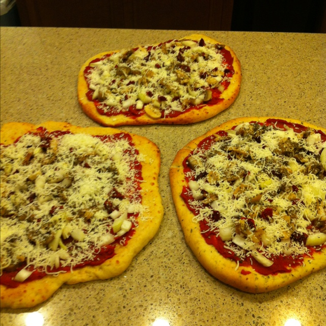 Homemade pizzas!