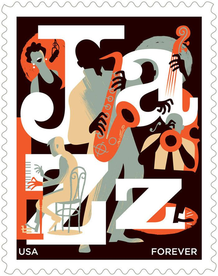 Jazz Stamp for USPS.  Paul Rogers.