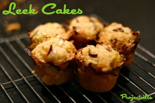 Leek Cakes – savoury muffin recipe | Projectville Creations ...