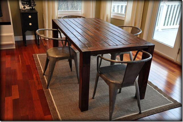 handmade modern farm table dining room table pinterest