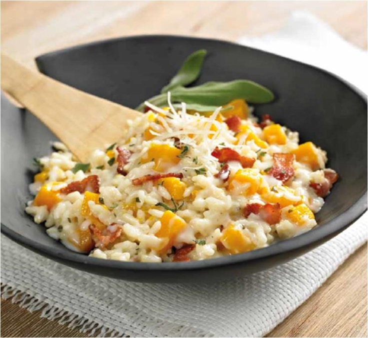 Butternut Squash Risotto with Bacon and Sage