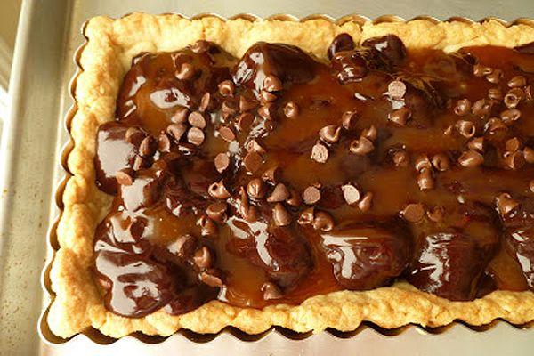chocolate, pecan, & caramel shortbread