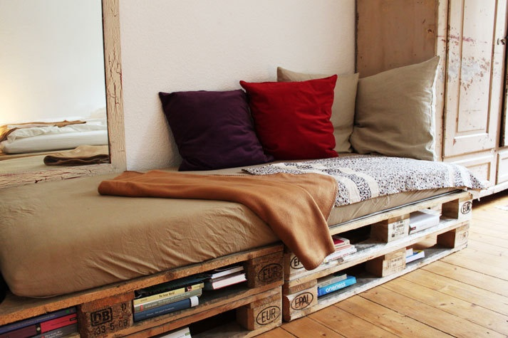 Sofa aus Paletten  Living  Pinterest