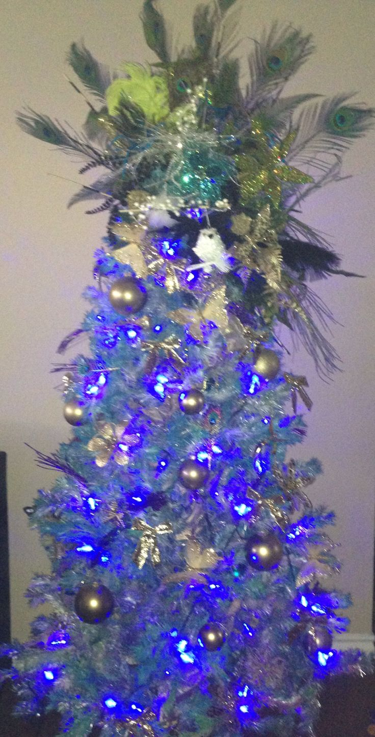 Christmas Trees Decorated With Peacocks : Peacock christmas tree trees decorated