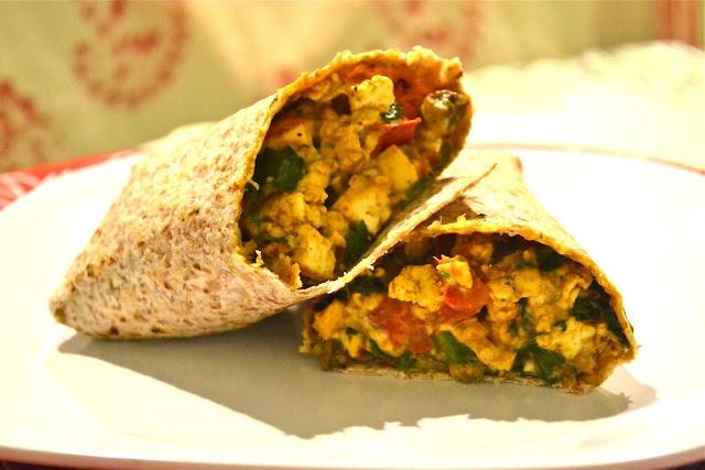 Vegan Cheesy Spicy Breakfast Burrito. From-Hell if I Gnaw: Breakfast ...