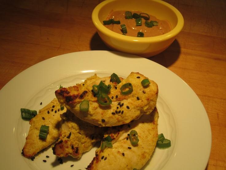 Thai Chicken Satay with Peanut Sauce | The Lemon Bowl