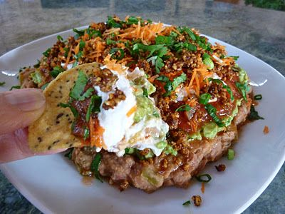 ... Layer Bean Dip With Walnut Taco Meat - Perfect For Superbowl Sunday