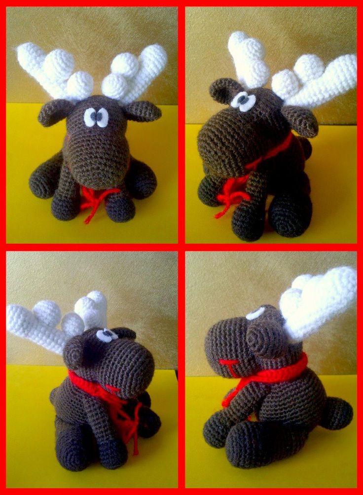 Amigurumi Reindeer Pattern : Amigurumi reindeer with no pattern Amigurumi Pinterest