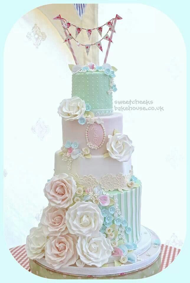 Beautiful Pastel Wedding Cake Pretty Delectables Pinterest