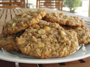 coconut white chocolate oatmeal cookies | See! Dairy-free can be deli ...