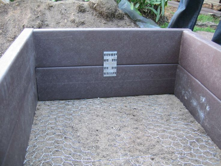 Raised Garden Bed Composite Decking Good Ideas Pinterest