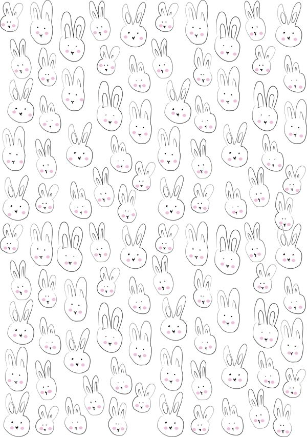 Free Printable Bunny Gift Wrapping Paper | Printables | Pinterest