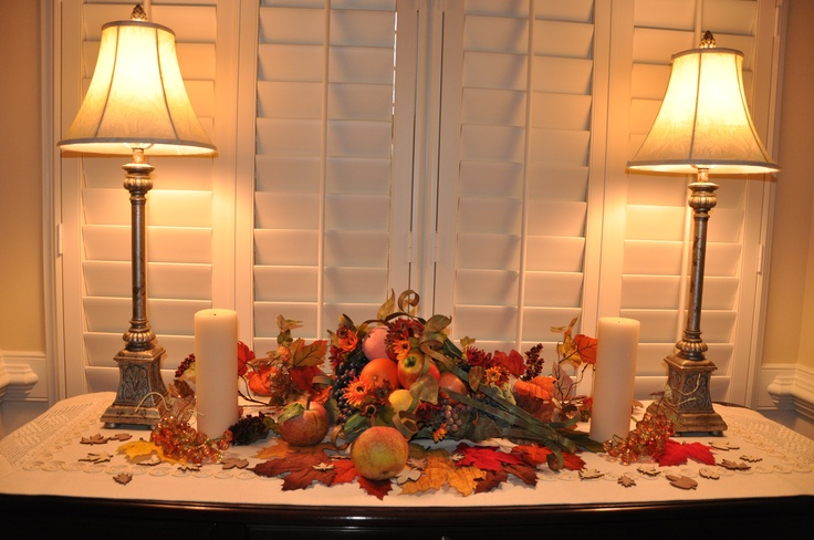 Decorating The Buffet For Fall Seasonal Table Settings Pinterest