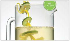 skinny cocktail - grapefruit basil champagne, sangria