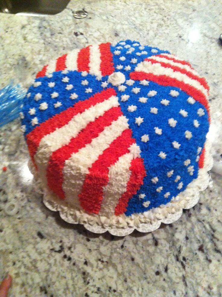 cake 4th of july