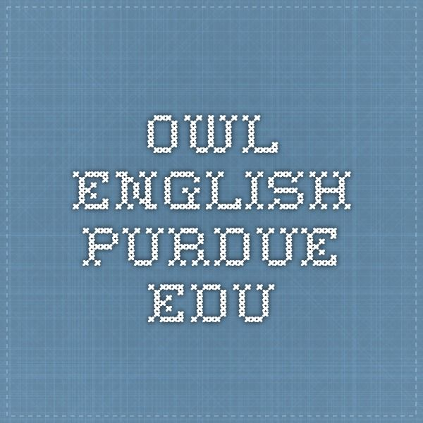 english purdue owl