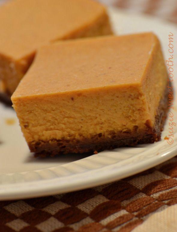Pumpkin Cheesecake Bars | Wedding Dresses | Pinterest