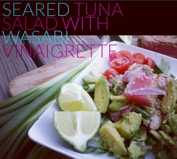 Paleo Seared Tuna Salad with Wasabi Vinaigrette